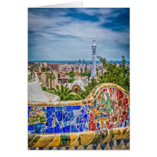 Carte Art moderne photographique unique de Barcelone
