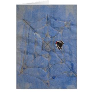 Carte Art par des enfants, araignée