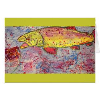 Carte art sans valeur de truite