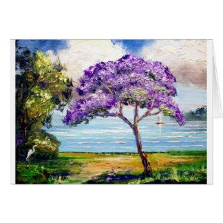 Carte Art tropical d'arbre de Jacaranda