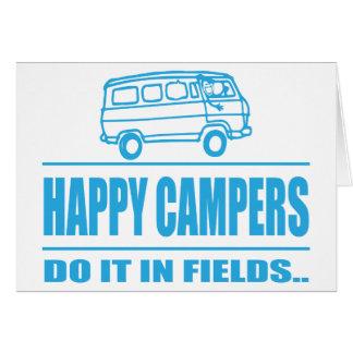 Carte Articles de cadeau pour le campeur inspiré heureux