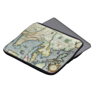 Carte asiatique antique du 17ème siècle, housse pour ordinateur portable