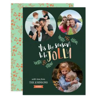 Carte Assaisonnez pour être Noël de vacances de très 3