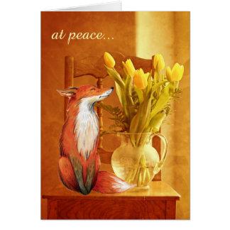 Carte au Fox rustique de charme de pays de ~ de paix et