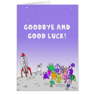 Carte Au revoir et bonne chance