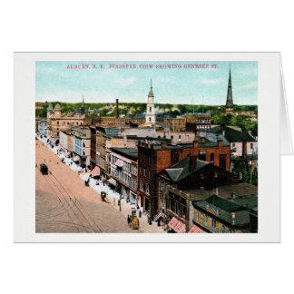 Carte Auburn, New York, vue d'oeil d'oiseau, cru