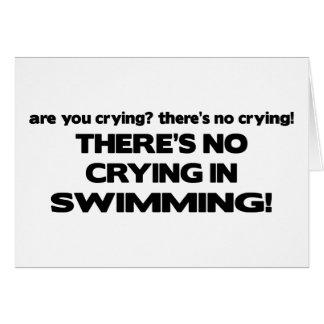 Carte Aucun pleurer - natation