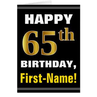 Carte Audacieux, noir, anniversaire d'or de Faux
