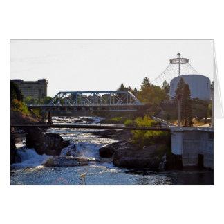 Carte Automnes de Spokane - parc de façade d'une rivière
