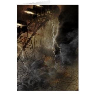 Carte Automnes dramatiques de roue de Ferris dans une