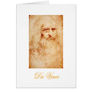 Carte Autoportrait de Leonardo da Vinci circa 1510-1515
