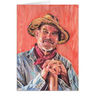 Carte Autoportrait, hommage à Vincent