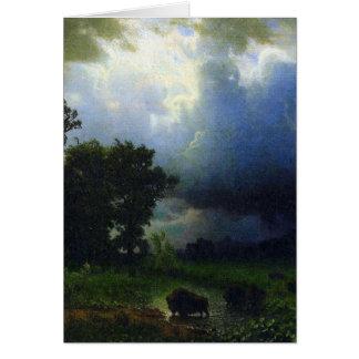 Carte Avant la tempête par Bierstadt