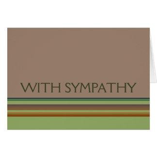 Carte Avec des rayures de sympathie