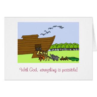 Carte Avec Dieu, tout est possible !