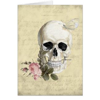 Carte Avec un rose entre mes dents