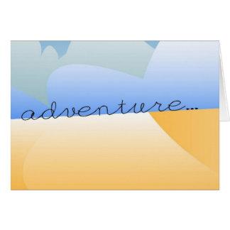 Carte aventure dans le désert