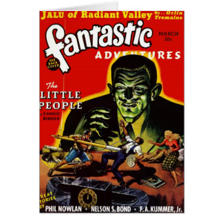 """Carte Aventures fantastiques - """"carte des lutins"""""""
