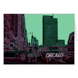 Carte Avenue de achat Chicago 1961 du Michigan de fille