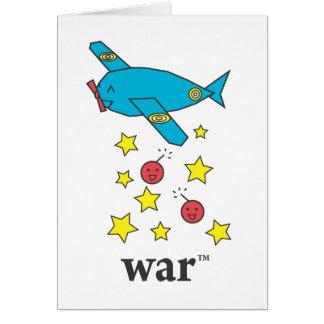 Carte Avion de bombardier bleu