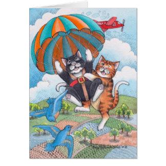 Carte B et note d'anniversaire de parachute de T #57