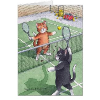 Carte B et note d'anniversaire de tennis de T #56