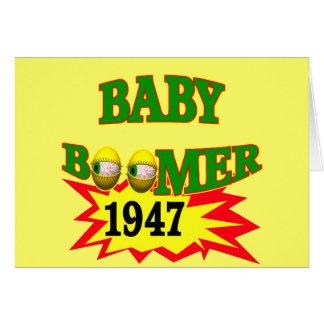 Carte Baby boomer 1947