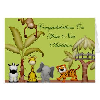 Carte Baby shower animal de célébration de safari de