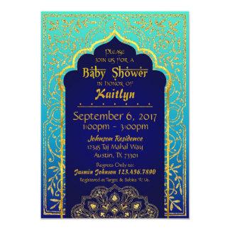 Carte Baby shower de mille et une nuits de Bollywood