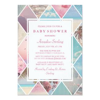 Carte Baby shower des diamants | d'été