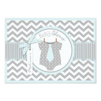 Carte Baby shower d'impression de Chevron de cravate de