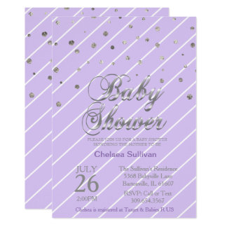 Carte Baby shower doux des confettis | de lavande et