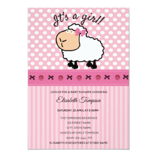 Carte Baby shower drôle mignon adorable de rose de