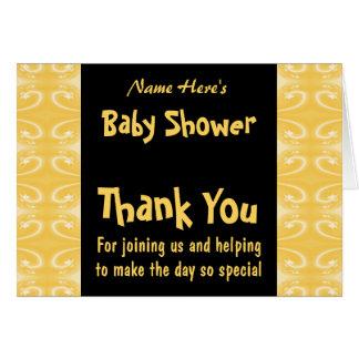 Carte Baby shower jaune et noir