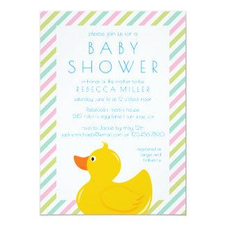 Carte Baby shower mignon en caoutchouc