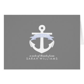 Carte Baby shower nautique d'ancre de lavande