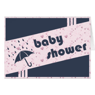 Carte baby shower : parapluie vintage