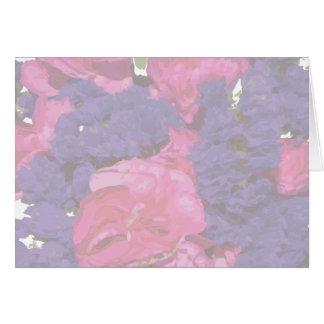 Carte Baby shower rose