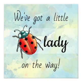 Carte Babyshower de coccinelle de Ladybird