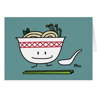 Carte Baguettes de cuillère de soupe du Vietnam de bol