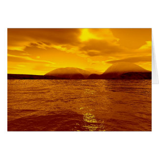 Carte Baie de tranquilité - ciel d'or