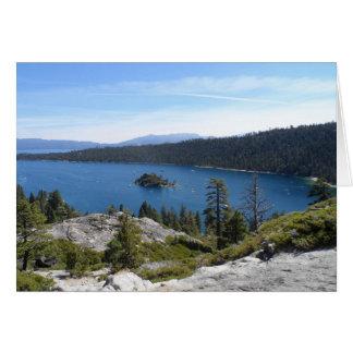 Carte Baie d'émeraude de Tahoe- de lac