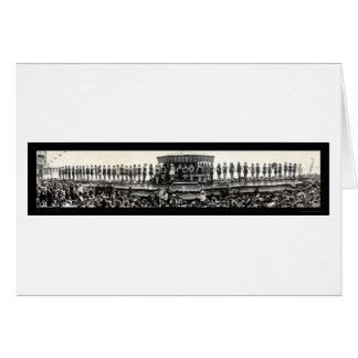 Carte Baigner la photo 1925 de défilé de fille