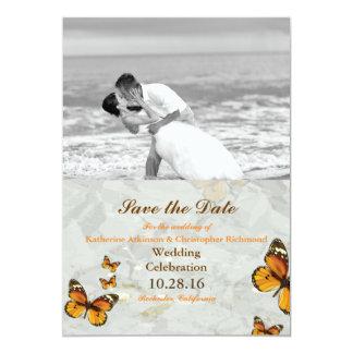 Carte Baiser/papillon de mariage de plage