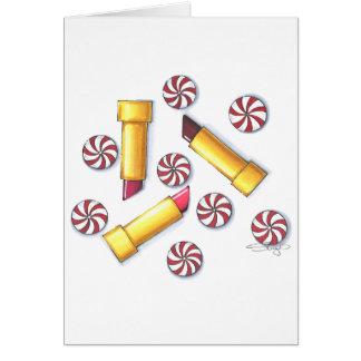 Carte Baisers de menthe poivrée (verticaux)