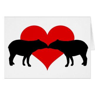 Carte Baisers des tapirs