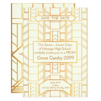 Carte Bal d'étudiants Supérieur-Junior, grand Gatsby,