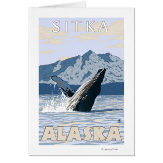 Carte Baleine de bosse - Sitka, Alaska