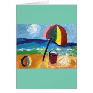 Carte Ballon de plage