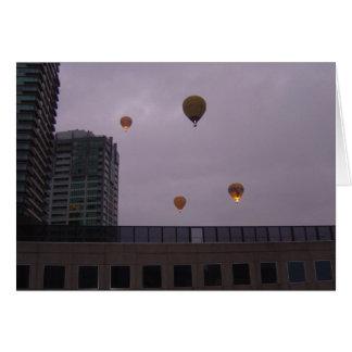 Carte Ballons à air chauds au-dessus de Melbourne